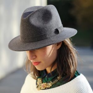Bailey for J. Crew packable fedora hat